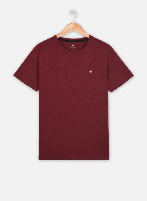 Vêtements Faguo Olonne T-Shirt Neps Bordeaux vue détail/paire