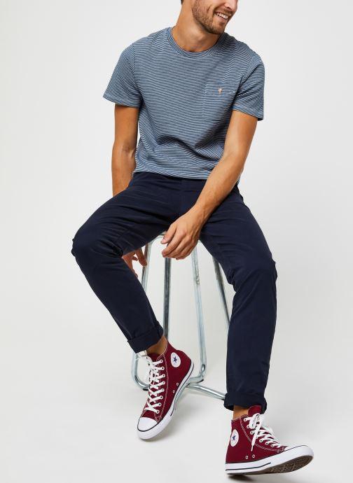 Vêtements Faguo Olonne T-Shirt Cotton Bleu vue bas / vue portée sac