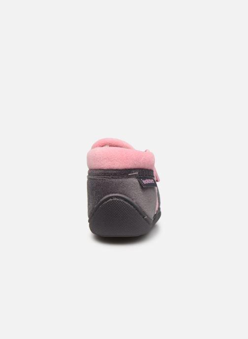 Pantofole Isotoner Bollitton zip polyvelours Grigio immagine destra