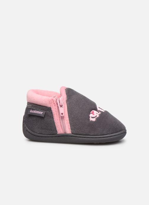Pantofole Isotoner Bollitton zip polyvelours Grigio immagine posteriore