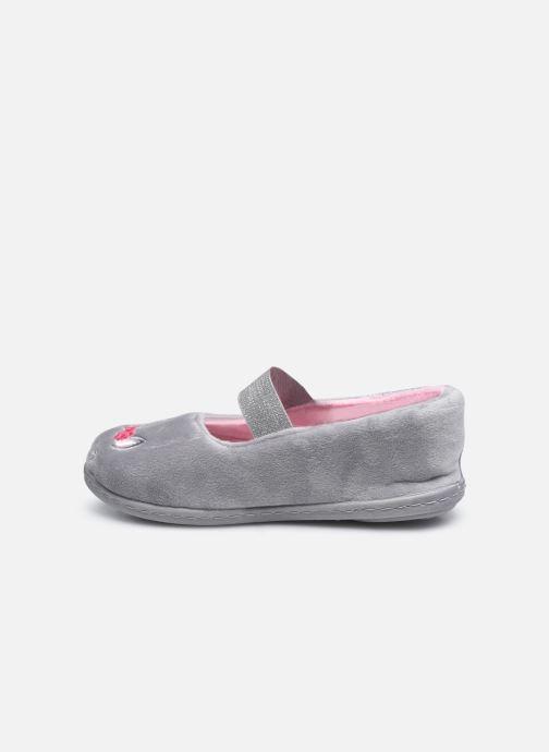 Pantofole Isotoner Ballerine Velours E Grigio immagine frontale