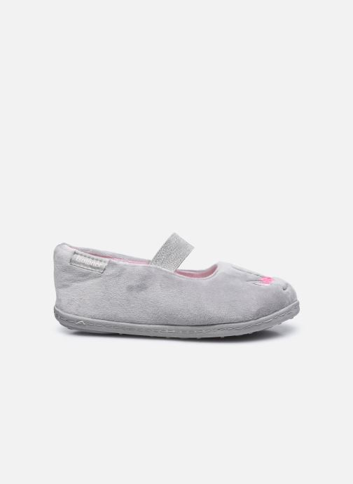 Pantofole Isotoner Ballerine Velours E Grigio immagine posteriore