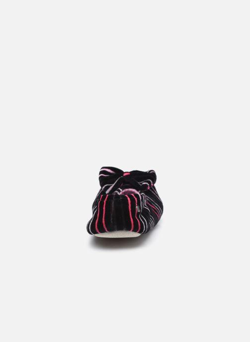 Pantuflas Isotoner Ballerine velours bio- grand nœud Multicolor vista lateral derecha
