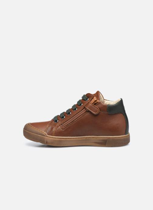 Sneaker Naturino Lovan Zip braun ansicht von vorne