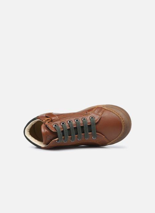 Sneaker Naturino Lovan Zip braun ansicht von links