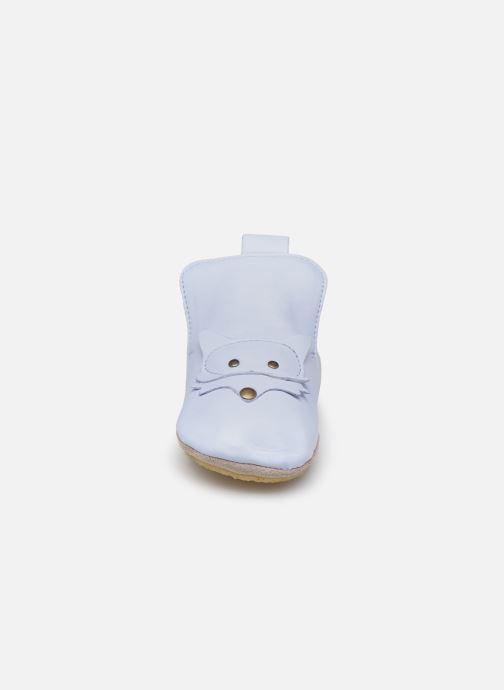 Chaussons Naturino Choux Piuma Bleu vue portées chaussures
