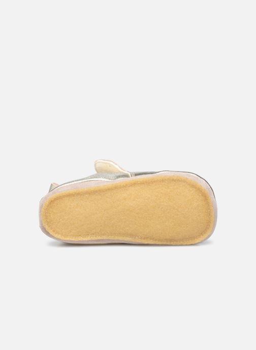 Pantofole Naturino Dlon Piuma Oro e bronzo immagine dall'alto