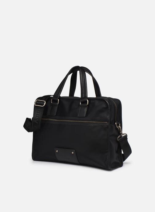 Porta PC Antonyme by Nat & Nin MELVIN Briefcase Nero modello indossato