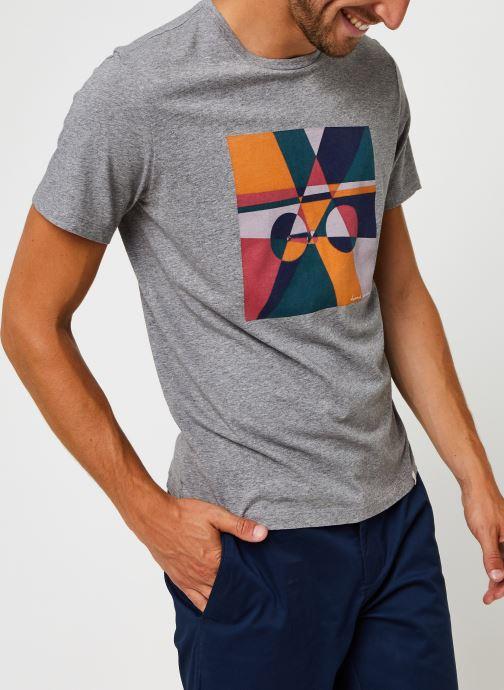 Kleding Harris Wilson Tee-shirt Carl Grijs detail