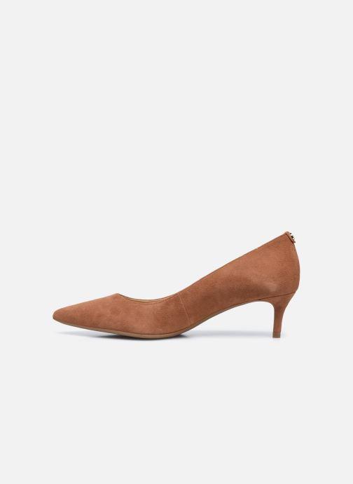 Zapatos de tacón Michael Michael Kors SARA  FLEX KITTEN PUMP Marrón vista de frente