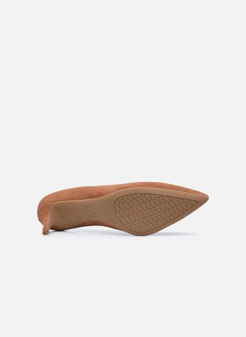 Zapatos de tacón Michael Michael Kors SARA  FLEX KITTEN PUMP Marrón vista de arriba