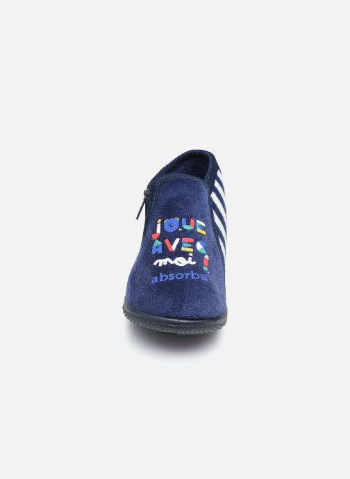 Chaussons Absorba Caddie Bleu vue portées chaussures