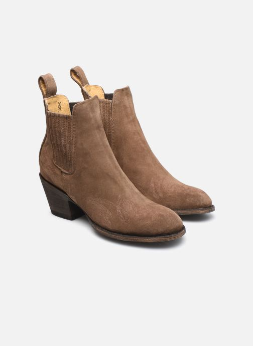 Bottines et boots Mexicana Gaucho 3 Marron vue 3/4