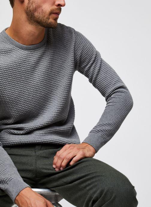 Vêtements Knowledge Cotton Apparel Pull Field Gris vue détail/paire