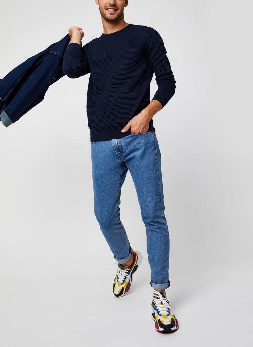 Vêtements Knowledge Cotton Apparel Pull Field Bleu vue bas / vue portée sac