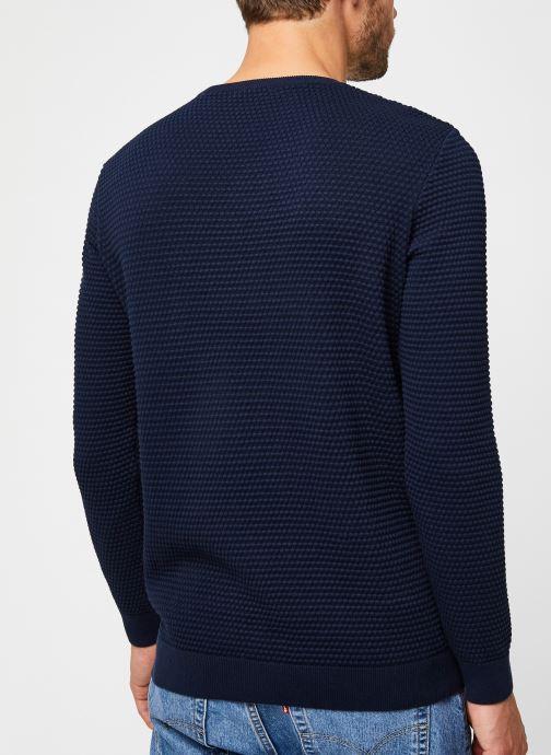 Vêtements Knowledge Cotton Apparel Pull Field Bleu vue face