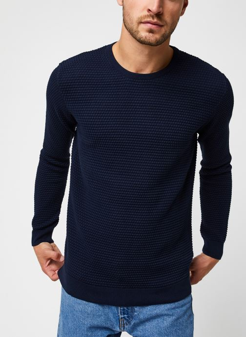 Vêtements Knowledge Cotton Apparel Pull Field Bleu vue droite