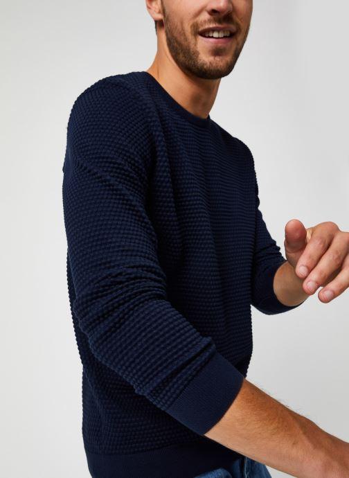 Vêtements Knowledge Cotton Apparel Pull Field Bleu vue détail/paire