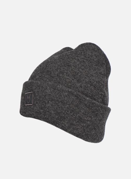 Mütze Knowledge Cotton Apparel Bonnet Leaf Organic grau schuhe getragen