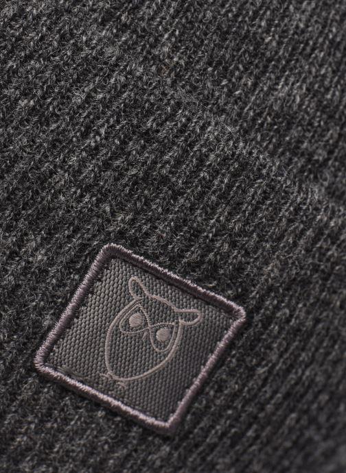 Mütze Knowledge Cotton Apparel Bonnet Leaf Organic grau ansicht von vorne