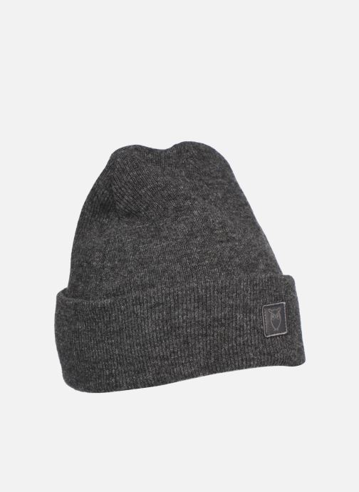 Gorro Knowledge Cotton Apparel Bonnet Leaf Organic Gris vista de detalle / par