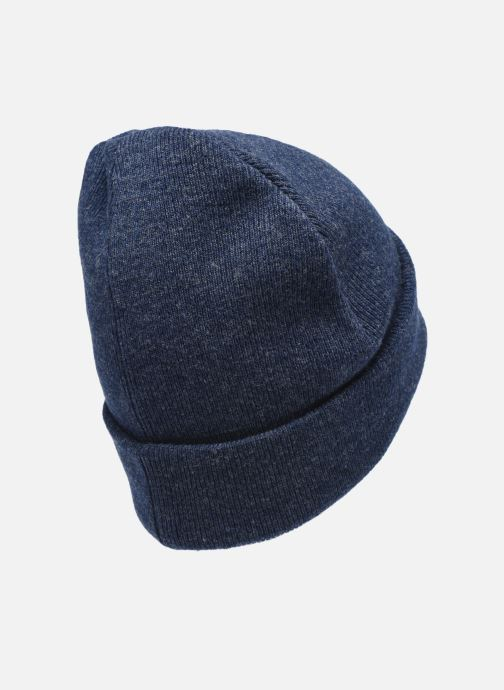 Gorro Knowledge Cotton Apparel Bonnet Leaf Organic Azul vista del modelo