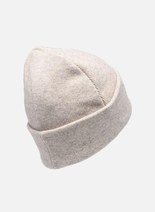 Gorro Knowledge Cotton Apparel Bonnet Leaf Organic Beige vista del modelo