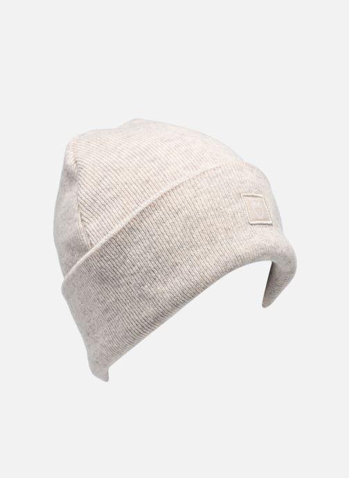 Gorro Knowledge Cotton Apparel Bonnet Leaf Organic Beige vista de detalle / par