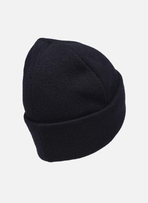 Gorro Knowledge Cotton Apparel Bonnet Leaf Organic Negro vista del modelo