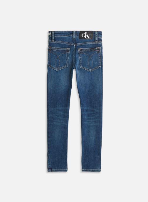 Vêtements Calvin Klein Skinny High Low Blue Destroy Str Bleu vue bas / vue portée sac