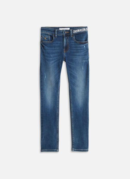 Vêtements Calvin Klein Skinny High Low Blue Destroy Str Bleu vue détail/paire
