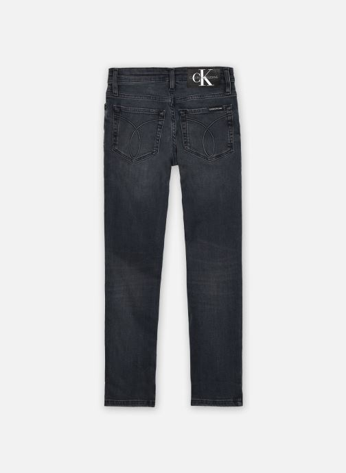 Vêtements Calvin Klein Slim Blue Black Stretch Bleu vue portées chaussures