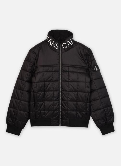 Kleding Calvin Klein Square Quilt Light Jacket Zwart detail