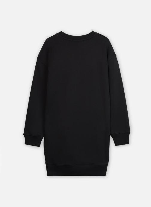 Vêtements Calvin Klein Neon Monogram Sweatshirt Dress Noir vue portées chaussures