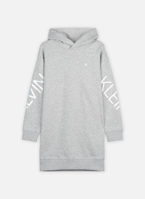 Vêtements Calvin Klein Hero Logo Hood Dress Gris vue détail/paire