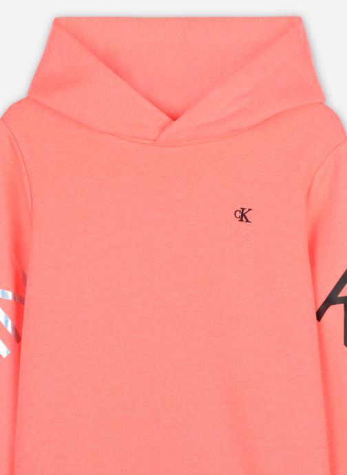 Vêtements Calvin Klein Hero Logo Hoodie Orange vue face