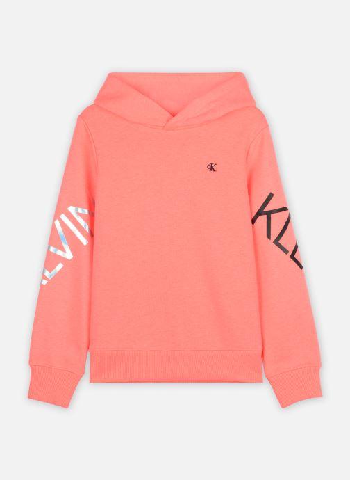 Vêtements Calvin Klein Hero Logo Hoodie Orange vue détail/paire