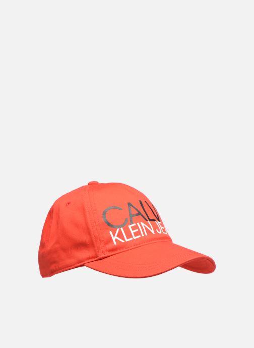 Casquettes Calvin Klein Cut Off Logo Baseball Cap Rouge vue détail/paire