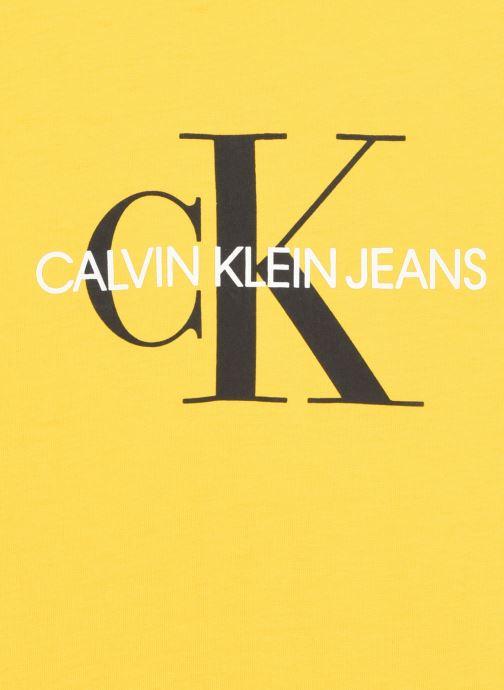 Vêtements Calvin Klein Monogram Logo T-Shirt Jaune vue face