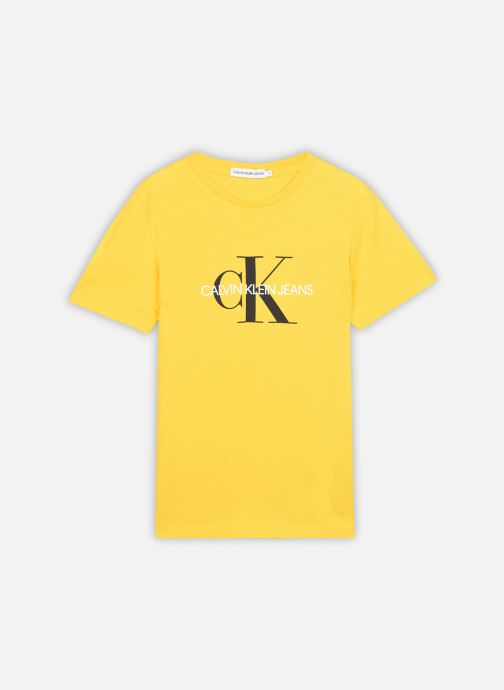 Vêtements Calvin Klein Monogram Logo T-Shirt Jaune vue détail/paire