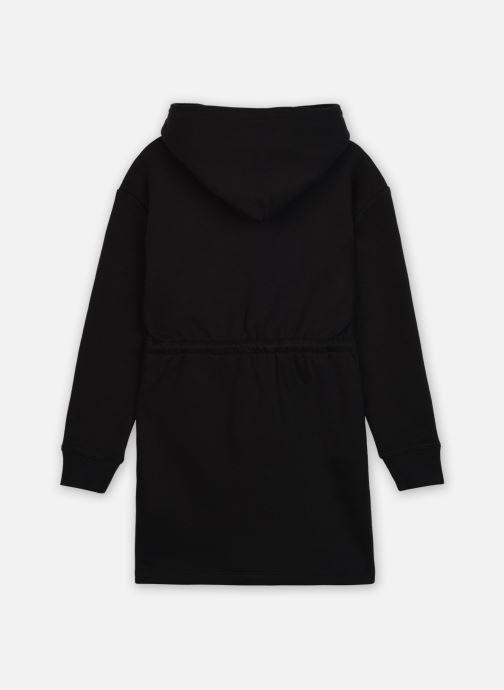 Vêtements Calvin Klein Striped Ck Hood Dress Noir vue portées chaussures