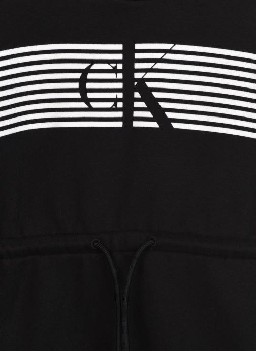 Vêtements Calvin Klein Striped Ck Hood Dress Noir vue face