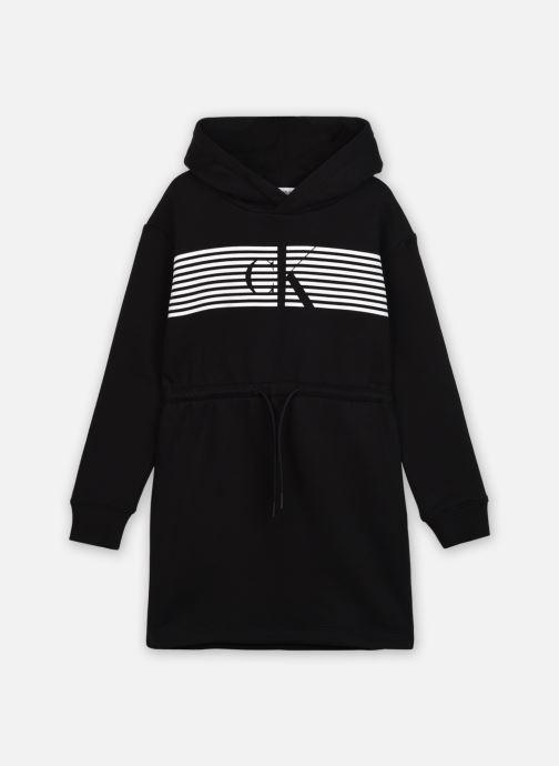 Vêtements Calvin Klein Striped Ck Hood Dress Noir vue détail/paire