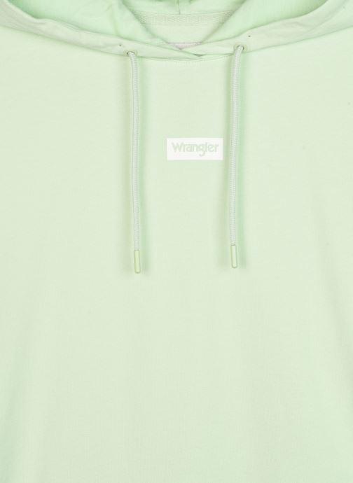 Vêtements Wrangler Logo Hoodie 3 Vert vue face