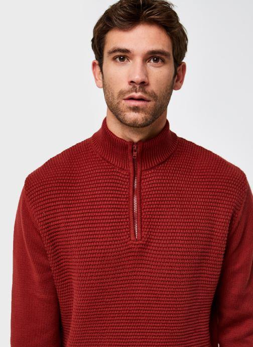 Vêtements Wrangler Half Zip Knit Marron vue face