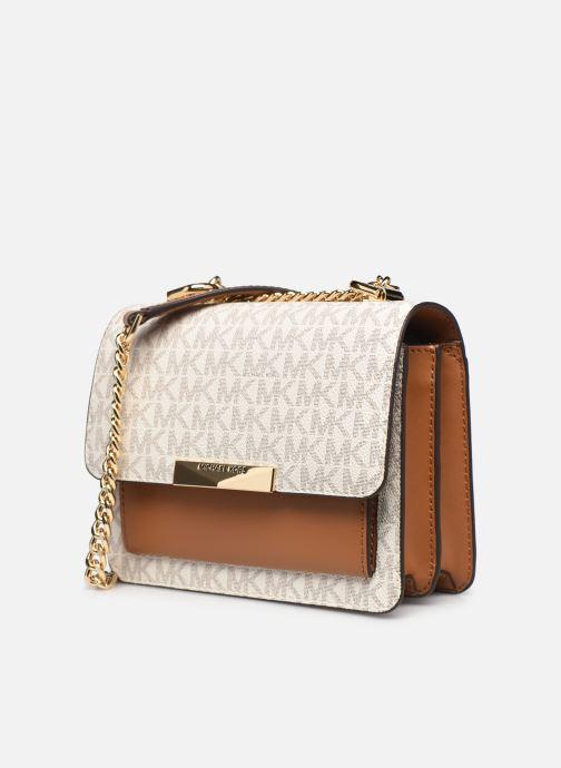 Handtaschen Michael Michael Kors JADE XS GUSSET  CROSSBODY beige schuhe getragen