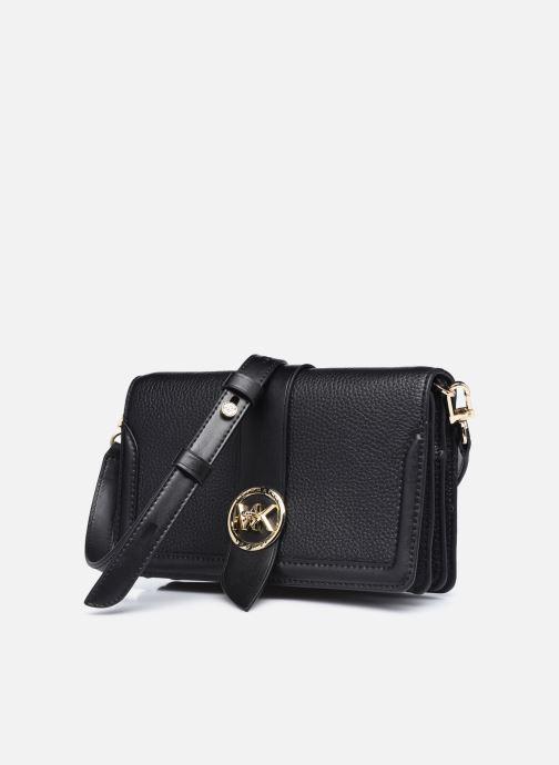 Bolsos de mano Michael Michael Kors MK CHARM CROSSBODY Negro vista del modelo