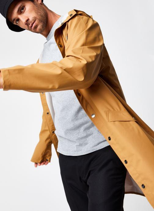 Kleding Rains  Long Jacket Groen detail