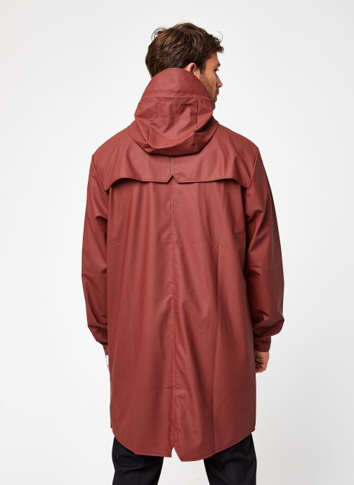 Kleding Rains  Long Jacket Bruin model