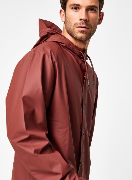 Kleding Rains  Long Jacket Bruin voorkant